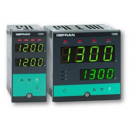 Regulátor teploty konfigurovatelný on-off-pid Gefran 1200-1300